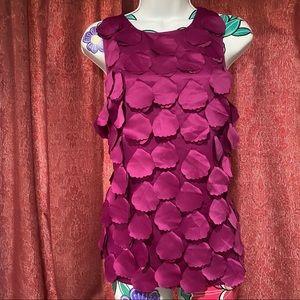 Ann Taylor Fuschia Purple Tank Blouse